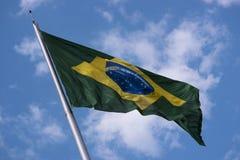 Brazil& x27; s-flagga Royaltyfri Fotografi