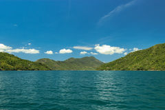 Brazil's landscape. Brazilian fjord located in the city of Paraty, with crystal-clear emerald Stock Photos