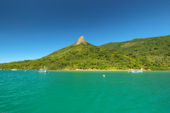 Brazil's landscape. Brazilian fjord located in the city of Paraty, with crystal-clear emerald Stock Photo