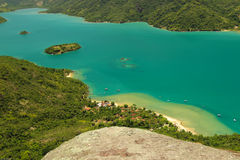 Brazil's landscape. Brazilian fjord located in the city of Paraty, with crystal-clear emerald Stock Image