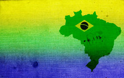 Brazil's map and colours Stock Photos