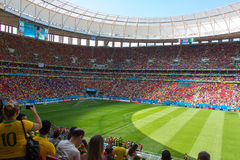 Brazil´s Stadium. FIFA World Cup Brazil 2014. Royalty Free Stock Photo