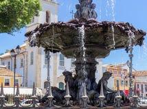brazil salvador La fuente en Terreiro de Jesus Square imagen de archivo