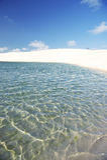 Brazil Sand Dune and Freshwater Pool at Lencois Maranheses Royalty Free Stock Photos