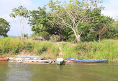 Brazil, Santarem: Living at the Amazon River - Waterfront Home Royalty Free Stock Image