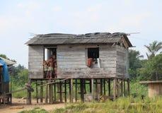 Brazil, Santarem: Home at the Amazon River Royalty Free Stock Photo