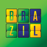 Brazil scoreboard. Brazil scoreboard in Brazilian flag color Royalty Free Stock Image