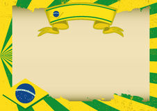 Brazil scratched horizontal background Stock Images