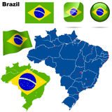 Brazil set. Stock Images