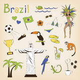 Brazil set Royalty Free Stock Photos