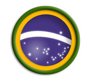 Brazil shield. Brazil button shield Stock Image