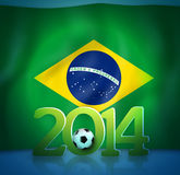 Brazil Soccer. Abstract Creative Soccer Background Royalty Free Stock Photo