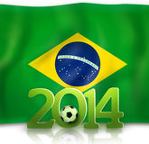 Brazil Soccer. Abstract Creative Soccer Background Royalty Free Stock Photos
