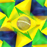 Brazil Soccer. Abstract Creative Soccer Background Royalty Free Stock Images