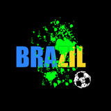 Brazil soccer 2014. Art design Royalty Free Stock Images