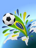 Brazil soccer background. With copy space Royalty Free Stock Photo