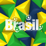 Brazil Soccer Background Design. Brazil Soccer Background Creative Graphic Design Stock Photos