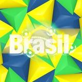 Brazil Soccer Background Design. Brazil Soccer Background Creative Graphic Design Stock Images