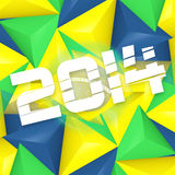Brazil Soccer Background Design Royalty Free Stock Images