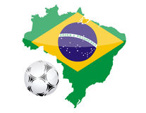 Brazil and soccer ball Royalty Free Stock Image