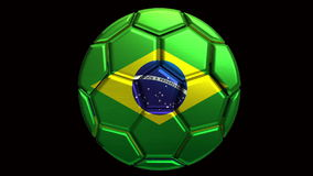 Brazil soccer ball stock video