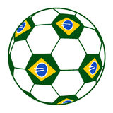 Brazil soccer ball Stock Image