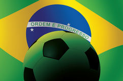 Brazil Soccer Ball Royalty Free Stock Images