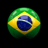 Brazil soccer ball. 3d image of brazil  soccer ball Royalty Free Stock Photos