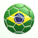 Brazil Soccer Ball. 3D render Brazil Soccer Ball Royalty Free Stock Photography