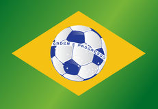 Brazil soccer ball flag illustration design Stock Images