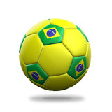 Brazil soccer ball. Isolated white background Stock Photos