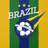 Brazil soccer ball sign. With long shadow Stock Photography
