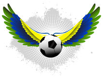 Brazil Soccer ball with wings Stock Photography