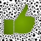 2014 brazil Soccer balls thumb up illustration Stock Photo
