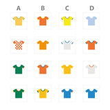 Brazil 2014 soccer championship group stages team jerseys. Brazil 2014 soccer championship group stages Stock Illustration