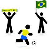 Brazil soccer Royalty Free Stock Image