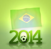 Brazil Soccer. Creative Soccer Background Design Royalty Free Stock Photos