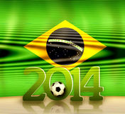 Brazil Soccer. Creative Soccer Background Design Stock Photos
