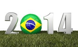 Brazil soccer2014. 3d image of brazil soccer and 2014 Stock Photography