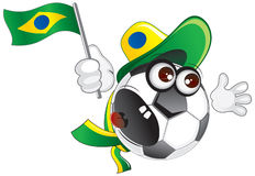 Brazil soccer fan shouting Royalty Free Stock Photography