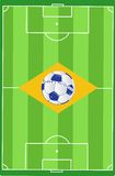 Brazil soccer field flag illustration design Stock Image