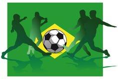 Brazil soccer flag Royalty Free Stock Photos