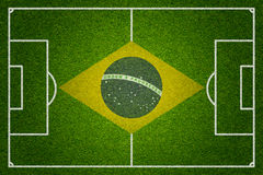 Brazil soccer or football pitch Royalty Free Stock Photo