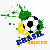 Brazil soccer game Royalty Free Stock Photos