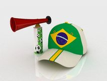 Brazil soccer hat Royalty Free Stock Photography