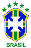 Brazil soccer logo Royalty Free Stock Photo