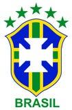 Brazil soccer logo. Illustration of a Brazilian soccer team brand Royalty Free Stock Photo