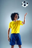 Brazil soccer man Royalty Free Stock Photo