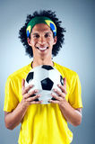 Brazil soccer man Royalty Free Stock Photos
