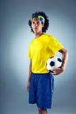 Brazil soccer man Stock Image